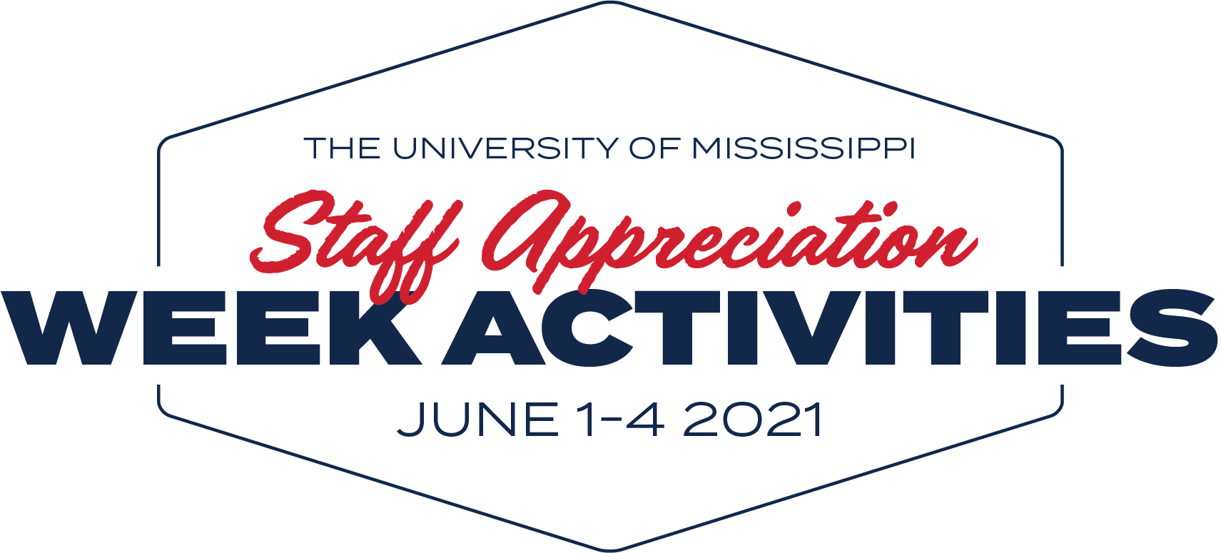 The University of Mississippi Staff Apperciation Week Activities June 1-4